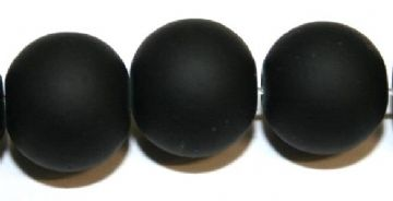 30pieces x 14mm black colour rubber coated glass beads -- 3005508